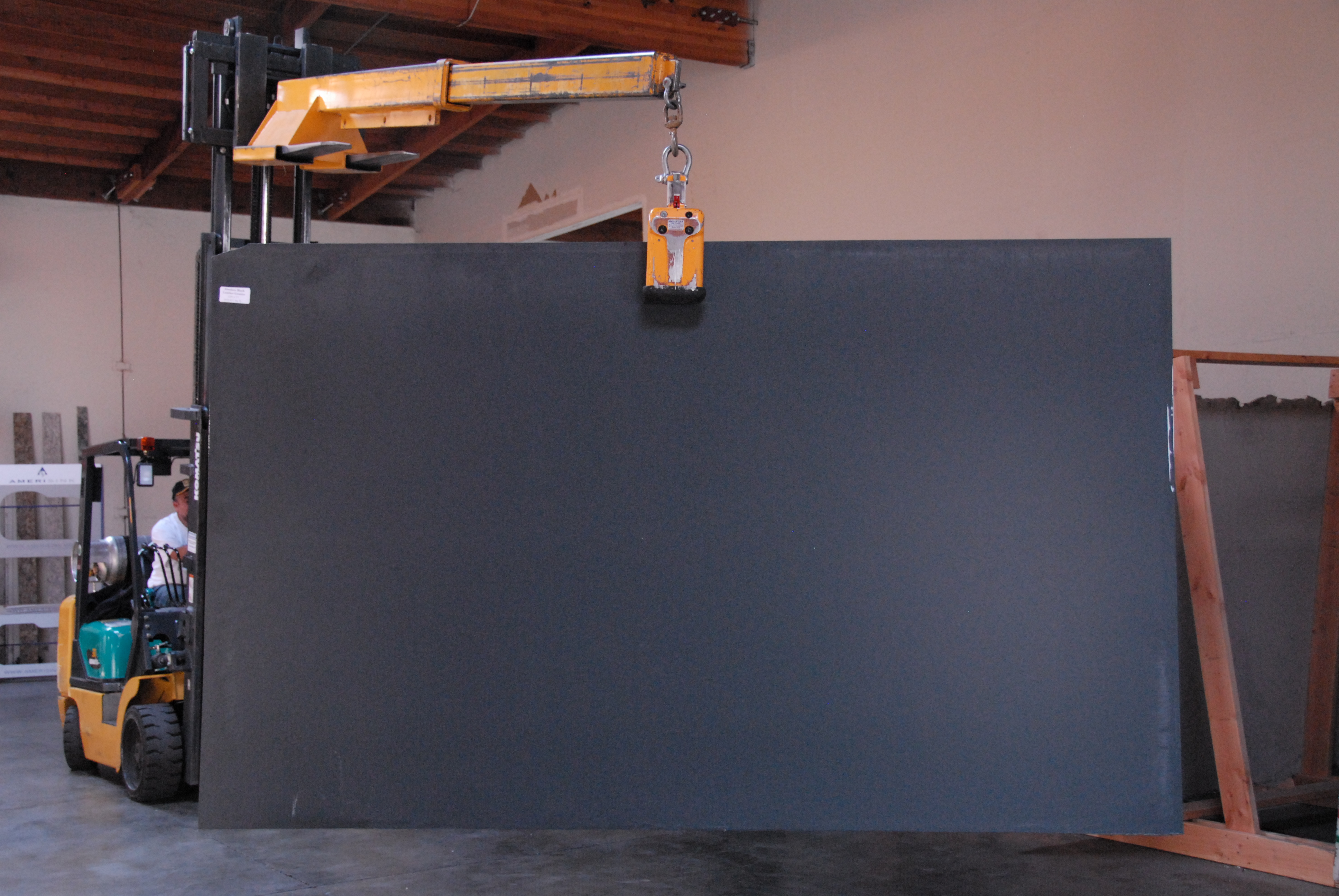 Absolute Black Leather Granite Counter Culture