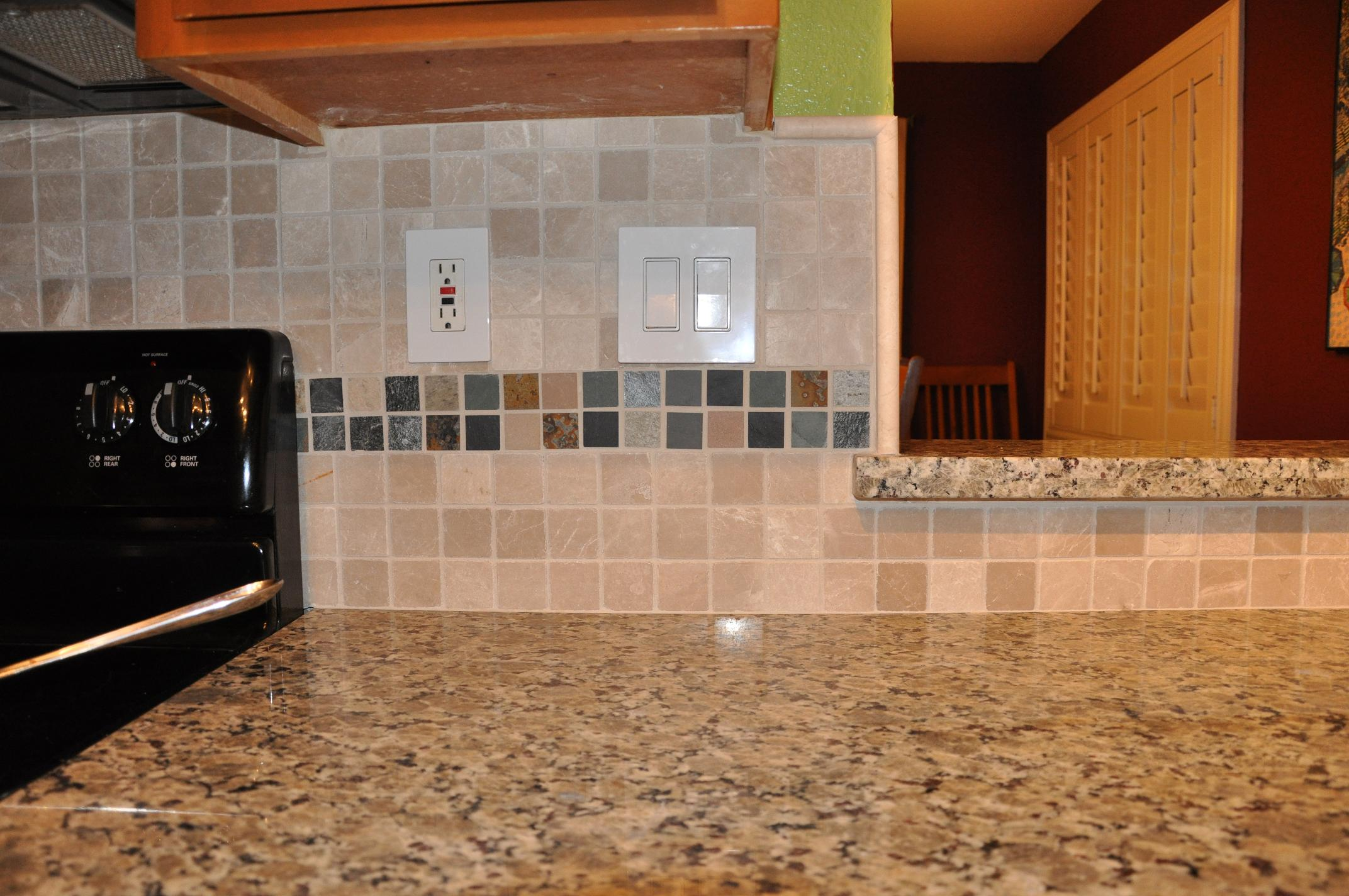 Golden Butterfly Kitchen With Mosaictile Backsplash Counter Culture